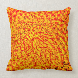 Red Hot Cactus Grade A 20X20 Cotton Throw Pillow