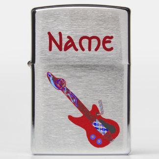 red Hot Celtic Blues Guitar Zippo Lighter