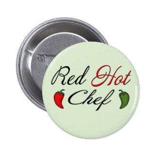 Red Hot Chef 2 Inch Round Button