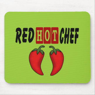 Red Hot Chef (Red Peppers) Mouse Pad