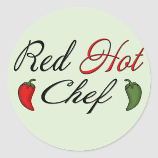 Red Hot Chef Classic Round Sticker