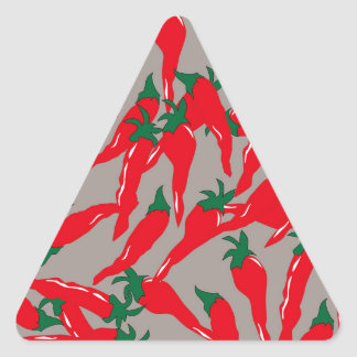 Red Hot Cherry Peppers Triangle Sticker