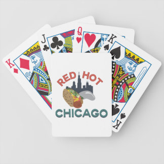Red Hot Chicago Bicycle Playing Cards