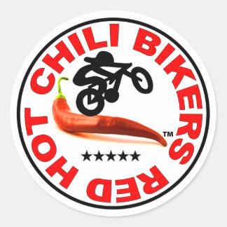 Red Hot Chili Bikers Classic Round Sticker