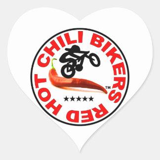 Red Hot Chili Bikers Heart Sticker