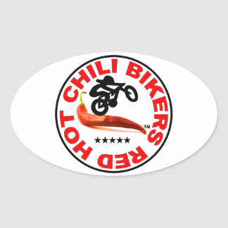 Red Hot Chili Bikers Oval Sticker