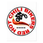 Red Hot Chili Bikers Postcard