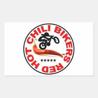 Red Hot Chili Bikers Rectangular Sticker