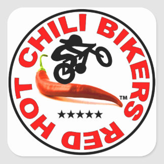 Red Hot Chili Bikers Square Sticker
