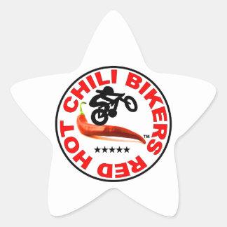 Red Hot Chili Bikers Star Sticker