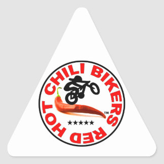 Red Hot Chili Bikers Triangle Sticker
