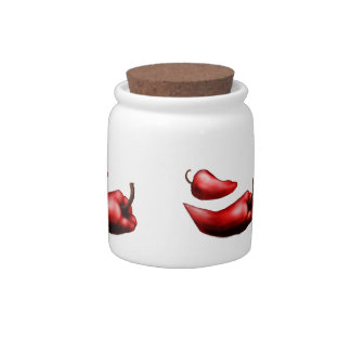 Red Hot Chili Pepper jar Candy Dish