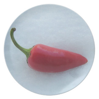 Red hot chili pepper plate