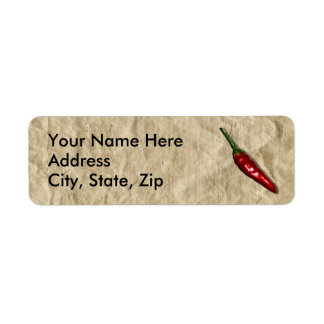 Red Hot Chili Pepper Return Address Labels