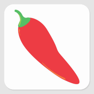 Red Hot Chili Pepper Square Sticker