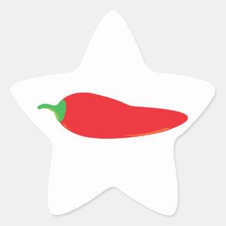 Red Hot Chili Pepper Star Sticker