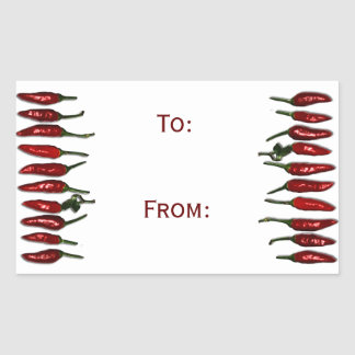 Red Hot Chili Peppers Gift Tag Rectangular Stickers
