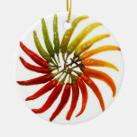 Red Hot Chili Peppers Double-Sided Ceramic Round Christmas Ornament