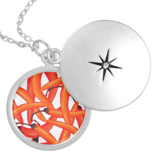 Red Hot Chili Peppers Round Locket Necklace