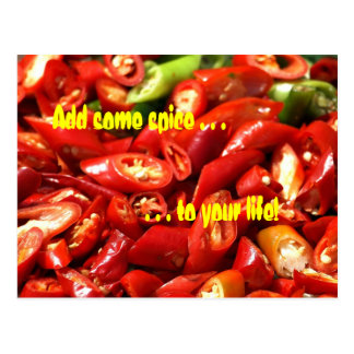 Red Hot Chili Peppers Spicy Postcard