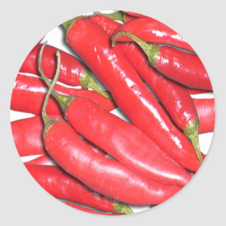 Red hot Chilli Classic Round Sticker