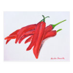 Red hot chilli peppers post card