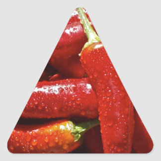 Red hot chilli peppers triangle sticker