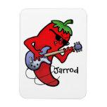 Red Hot Chilli Rocker Magnet