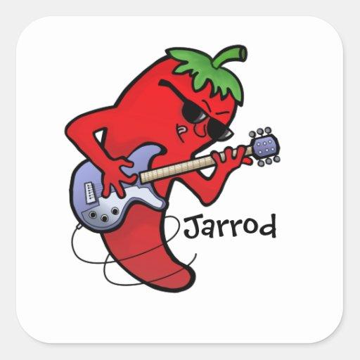 Red Hot Chilli Rocker Sticker