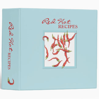 Red Hot Chillies blue Avery Binder
