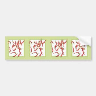 Red Hot Chillies green Stickers Car Bumper Sticker