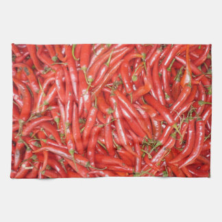 red hot chillies kitchen towel