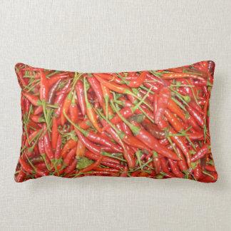 red hot chillies lumbar pillow