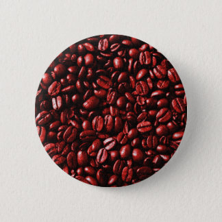 Red Hot Coffee Beans Pinback Button