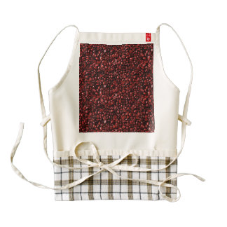 Red Hot Coffee Beans Zazzle HEART Apron