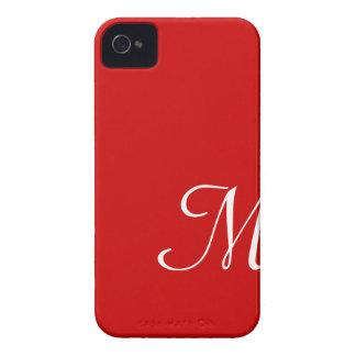 Red Hot Custom Initial Monogram iPhone 4 Case-Mate Case