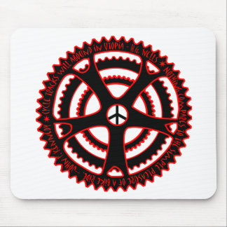 Red Hot Cycle Tracks in Utopia Mouse Pad