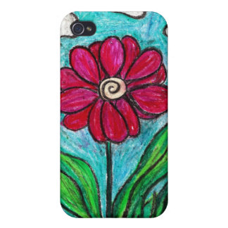 Red Hot Daisy Flower iPhone 4 Cases