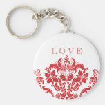 Red Hot Damask Keychain