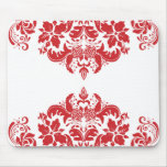Red Hot Damask Mousepad