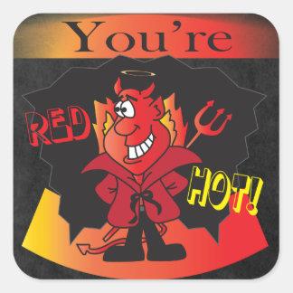 Red Hot Devil | Halloween Square Sticker