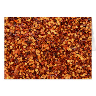 Red hot dried chilli flakes card
