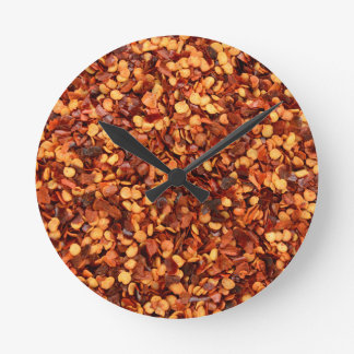Red hot dried chilli flakes clock