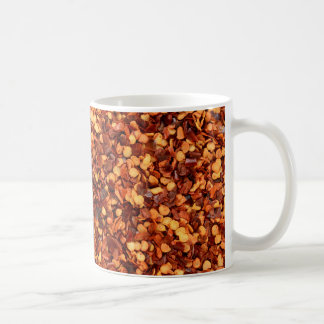 Red hot dried chilli flakes coffee mug