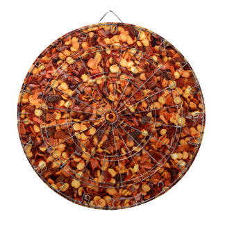 Red hot dried chilli flakes dart boards