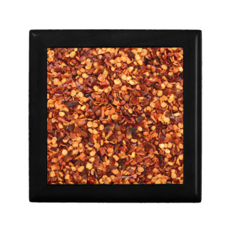 Red hot dried chilli flakes jewelry boxes