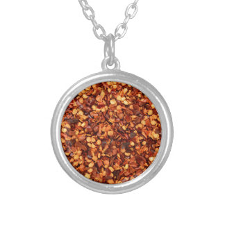 Red hot dried chilli flakes jewelry