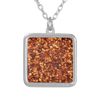 Red hot dried chilli flakes necklace