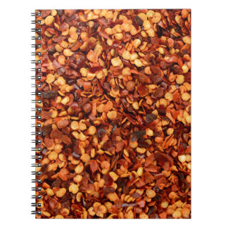 Red hot dried chilli flakes note books