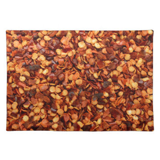 Red hot dried chilli flakes placemats